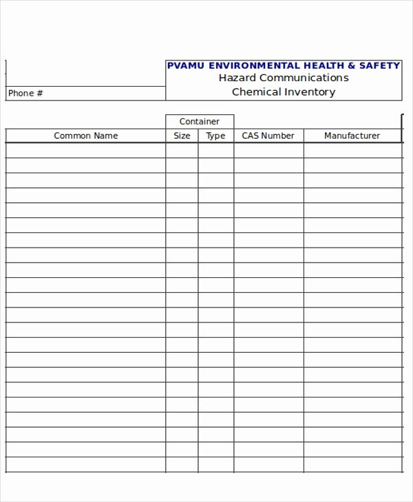 Chemical Inventory List Template Fresh 21 Inventory Templates In Excel