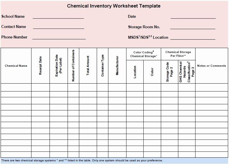 Chemical Inventory List Template Inspirational 13 Free Sample Chemical Inventory List Templates
