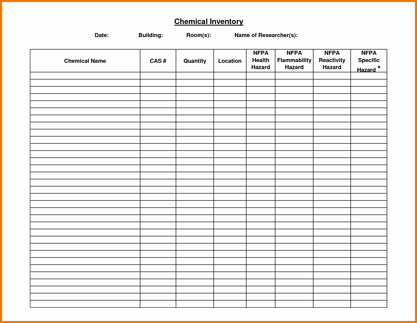 Chemical Inventory List Template Lovely Chemical Inventory List Template Png Moving Packing List