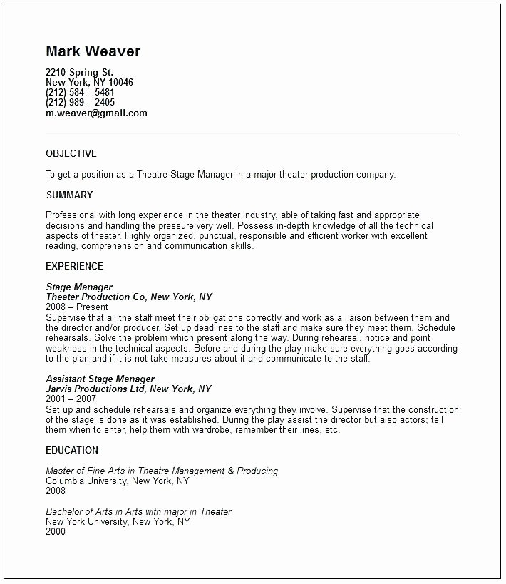 Child Acting Resume Template Awesome X Acting Modeling Resume Template Child Actor Sample