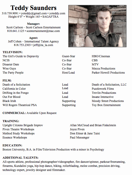 Child Acting Resume Template Luxury 8 Acting Resume Samples Resumes