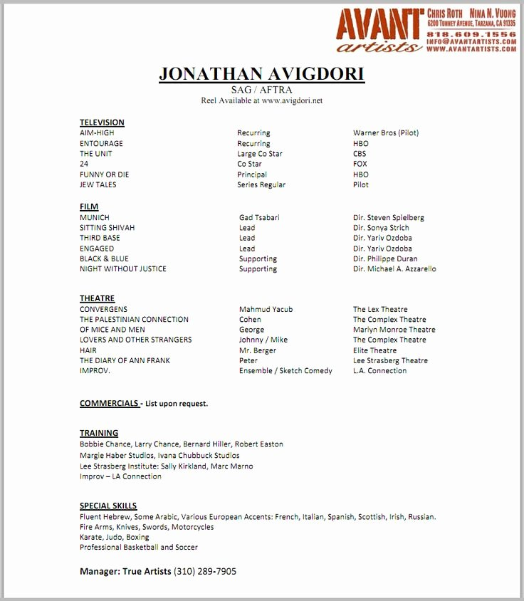 Child Actor Resume Template Beautiful 17 Best Images About Child Actor Résumé On Pinterest