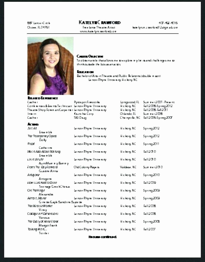 child actor la child actor resume format free acting resume samples acting child acting resume format