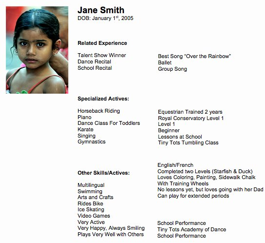 Child Actors Resume Template Awesome 9 Tips to Prepare Your Child S Acting Resume Casting