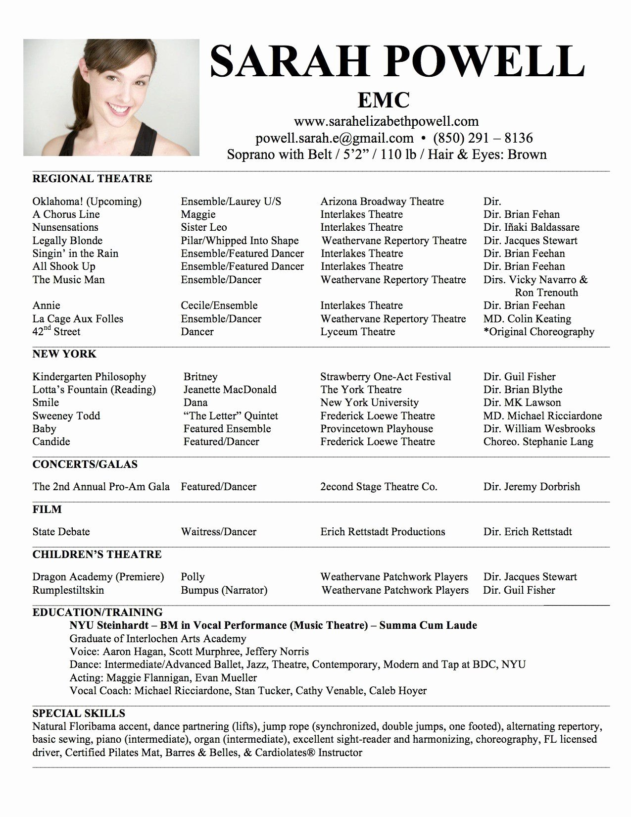 Child Actors Resume Template Luxury Child Model Resume Eezee Merce