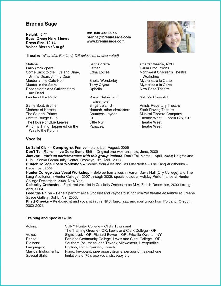 Child Actors Resume Template New Acting Resume Example for Beginners Best 28 Child
