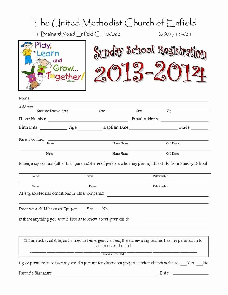 Child Care Application Template Unique 15 Best Children S Ministry forms and Paperwork Images