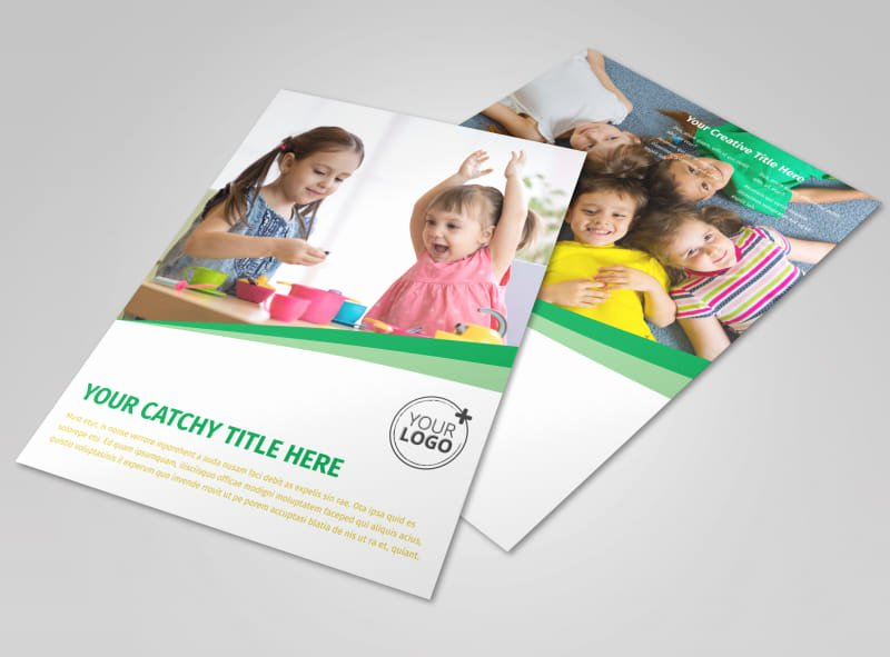 Child Care Flyer Template Awesome Child Daycare Flyer Template