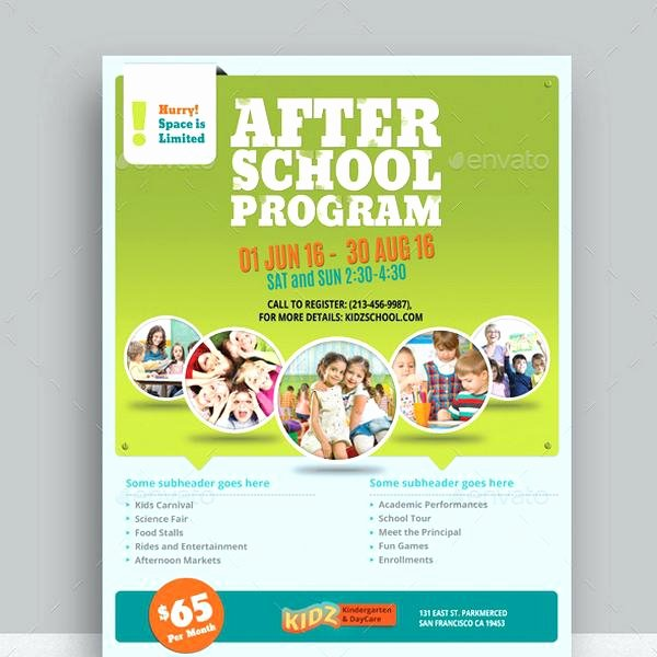 Child Care Flyer Template Awesome Daycare Flyer Templates Program Template Free Printabl On