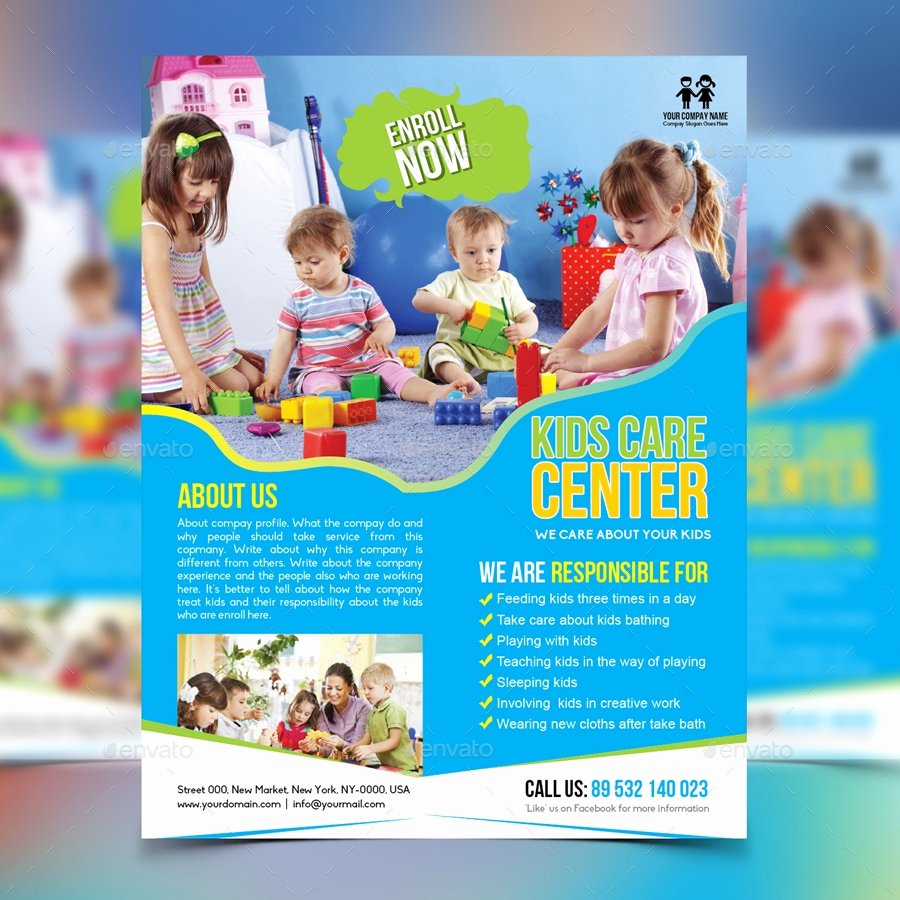 Child Care Flyer Template Best Of 16 Child Care Flyer Designs & Examples – Psd Ai Word
