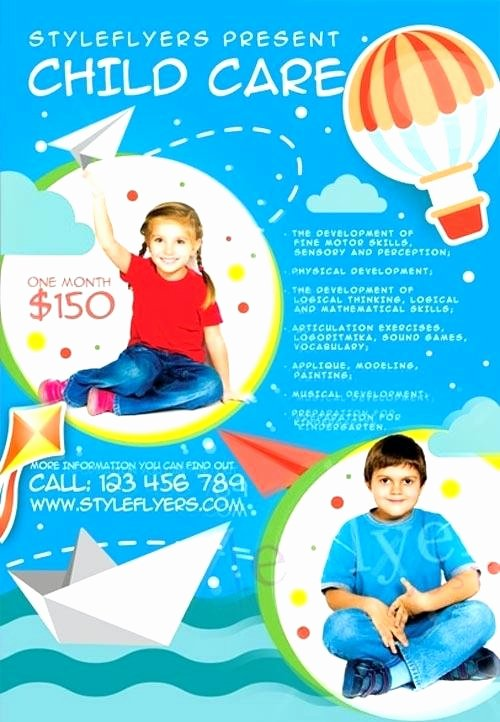 Child Care Flyer Template Best Of Family Day Care Brochure New Day Care Ad Berab Dglev