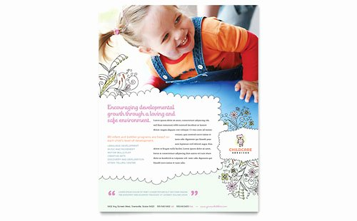 Child Care Flyer Template Elegant Business Flyer Templates