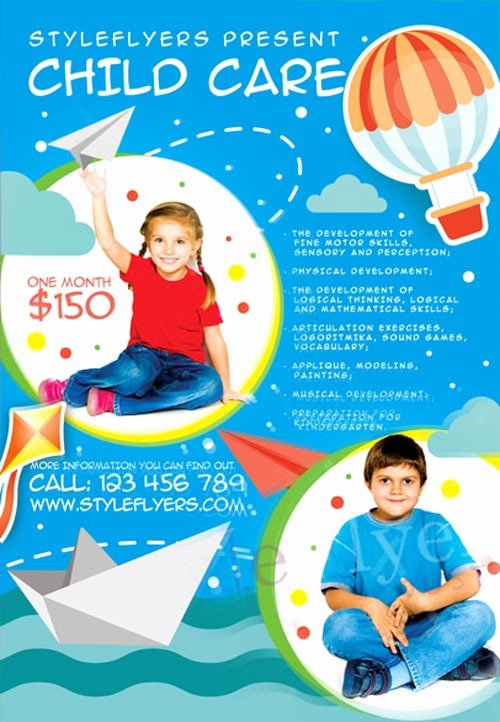 Child Care Flyer Template Elegant Child Care Free Flyer Template Download for Shop