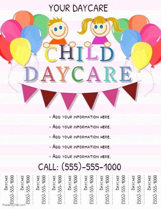Child Care Flyer Template Fresh Daycare Flyer Template