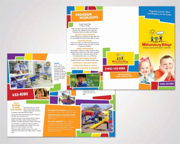 Child Care Flyer Template Inspirational 15 Daycare Brochure Templates Free Psd Eps