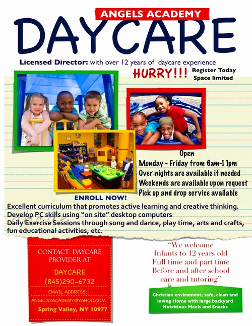 Child Care Flyer Template Lovely Daycare Open House Flyer Template Yourweek A96e75eca25e