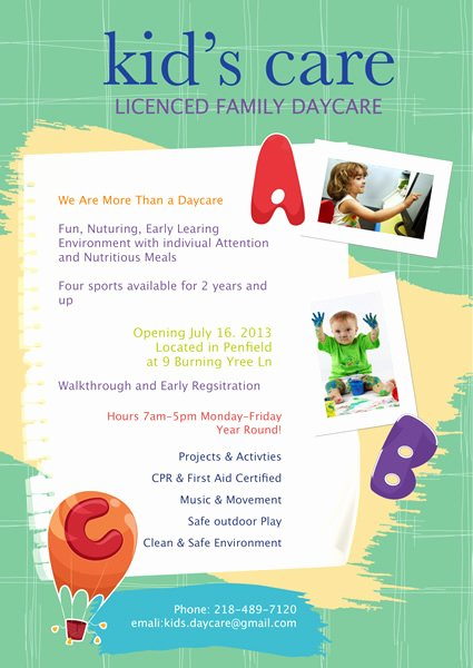 Child Care Flyer Template Lovely Flyer Templates & Samples