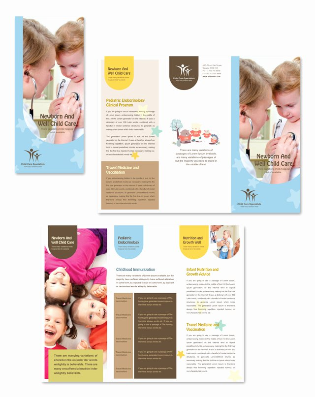 Child Care Flyer Template Luxury Child Care Specialists Tri Fold Brochure Template