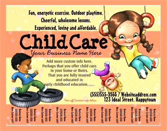 Child Care Flyer Template New Daycare Flyer Templates Free Child Care Flyer Templates