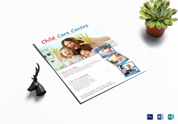Child Care Flyer Template Unique 30 Daycare Flyer Templates
