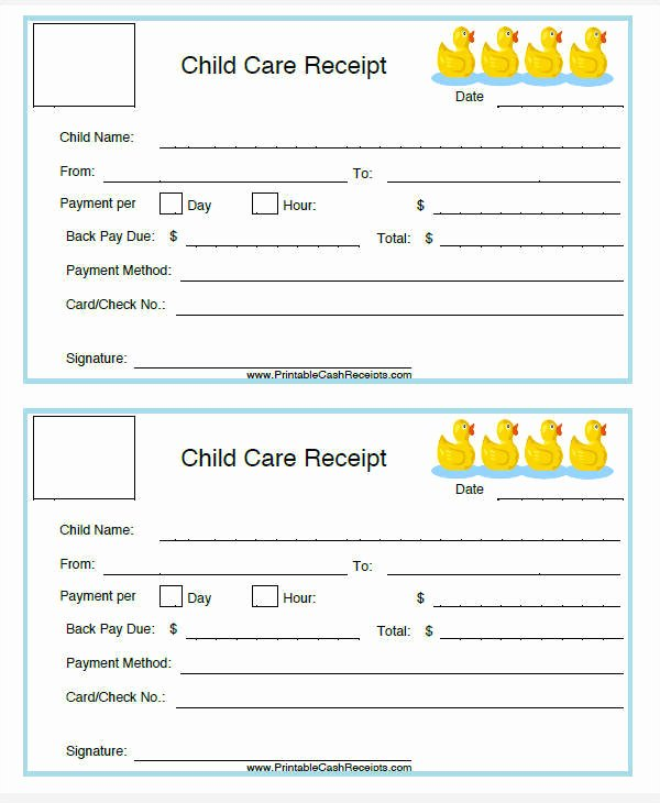 Child Care Invoice Template Luxury 5 Daycare Invoice Templates – Examples In Word Pdf