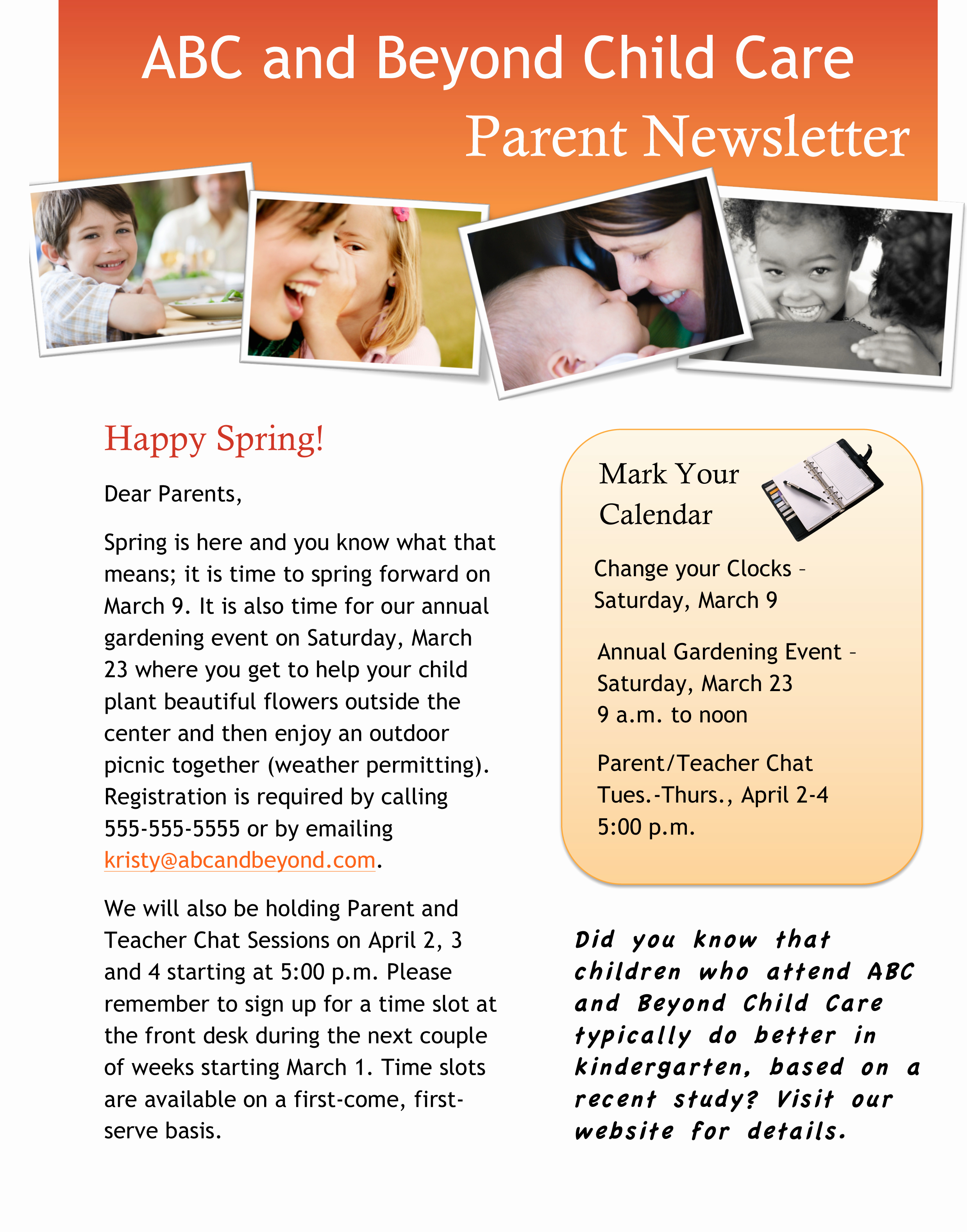 Child Care Newsletter Template Awesome 12 Best S Of Parent Child Care Newsletters Parent