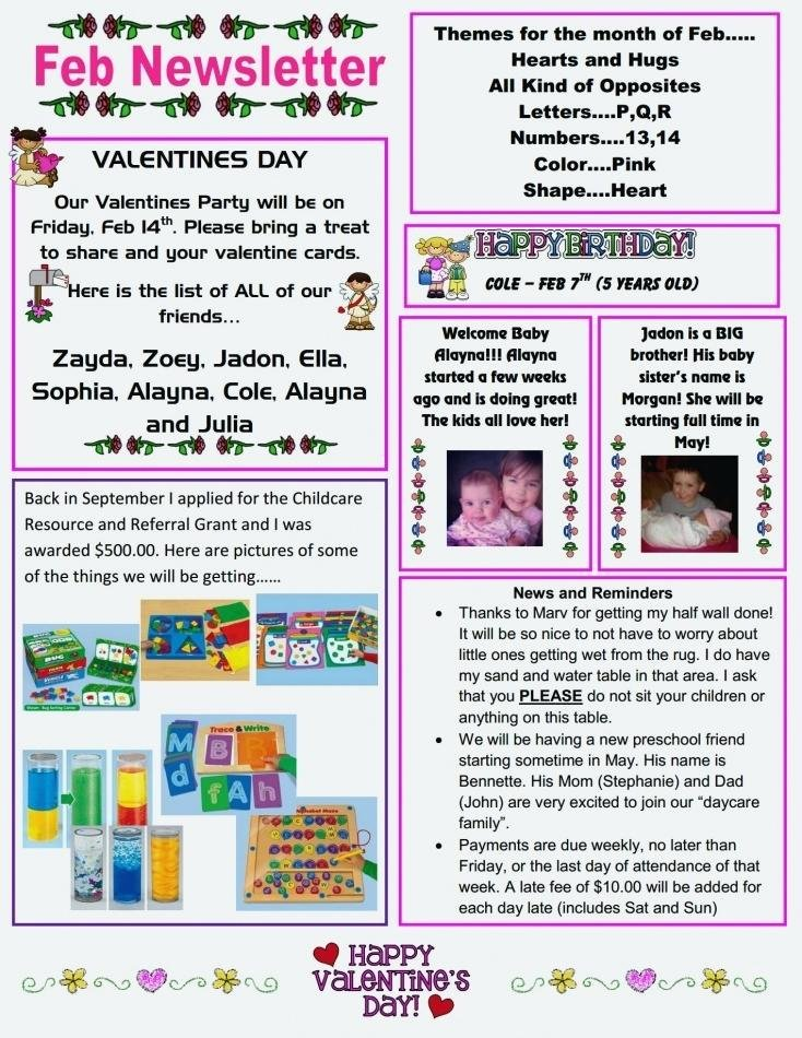 Child Care Newsletter Template Beautiful Best Newsletter Template for Preschool Childcare