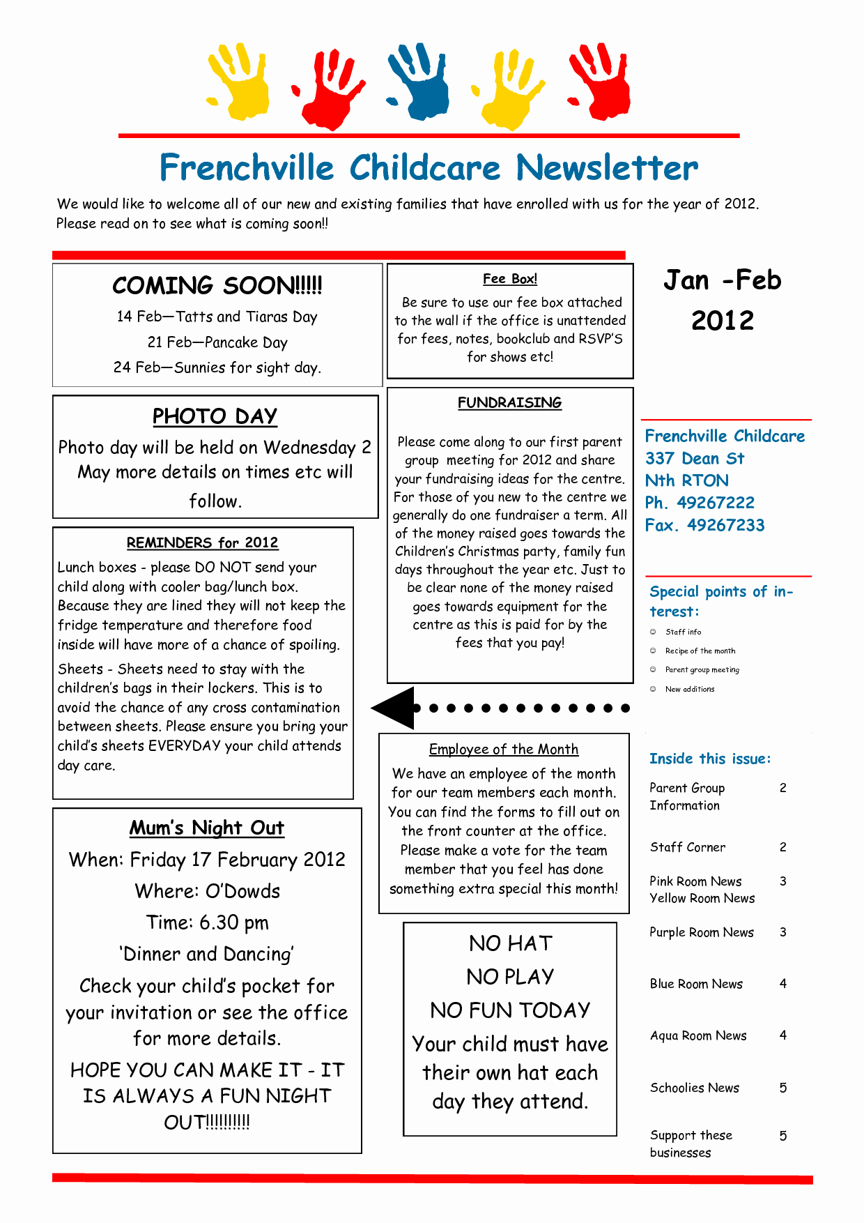 Child Care Newsletter Template Best Of Best S Of Day Care Newsletter Templates Sample
