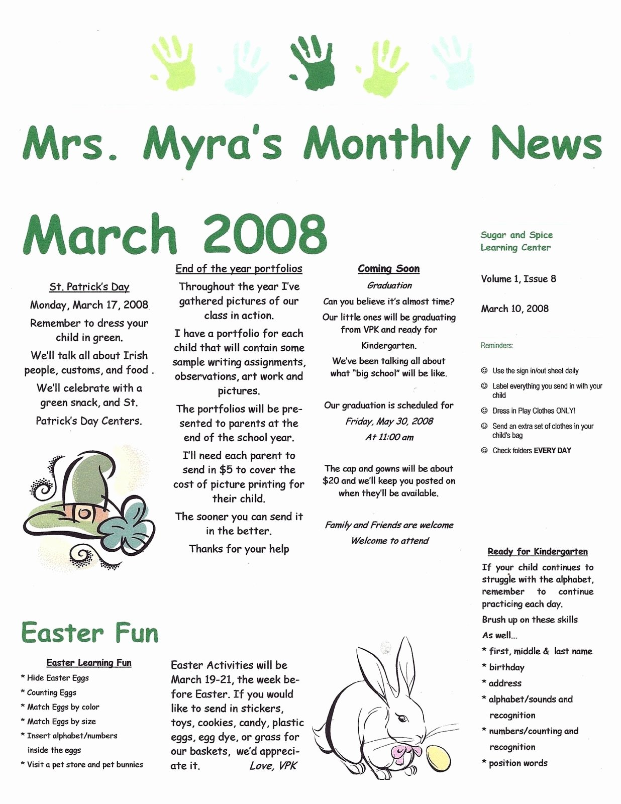 Child Care Newsletter Template Best Of September Preschool Newsletter Samples