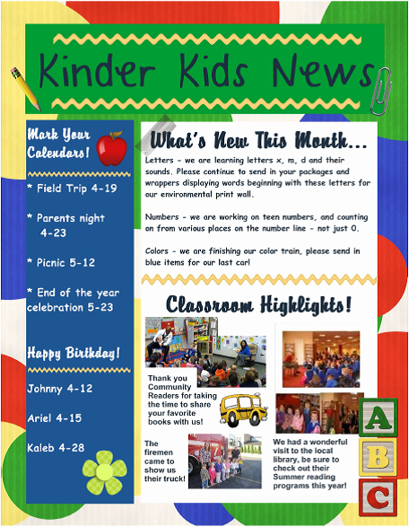 Child Care Newsletter Template Fresh I Am Happy and Excited that You Have Decided On Choosing