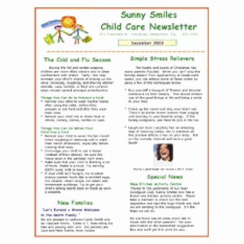 Child Care Newsletter Template Lovely Daycare Newsletter Templates