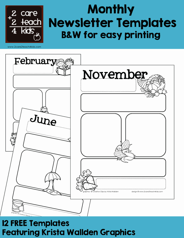 Child Care Newsletter Template Unique Basic Newsletters Free Printable Templates