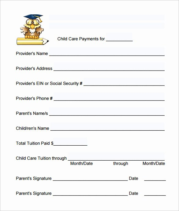 Child Care Receipt Template Awesome 20 Daycare Receipt Templates Doc Pdf