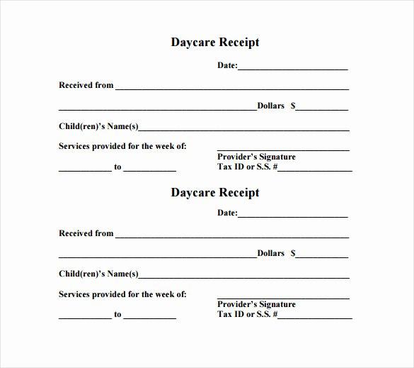 Child Care Receipt Template Fresh 24 Daycare Receipt Templates Pdf Doc