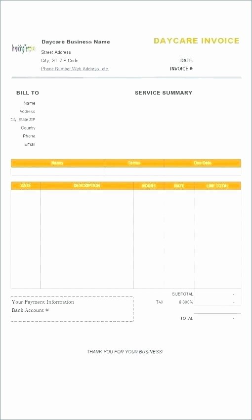 Child Care Receipt Template Lovely Childcare Receipt Child Care Tax Receipt Template Tax