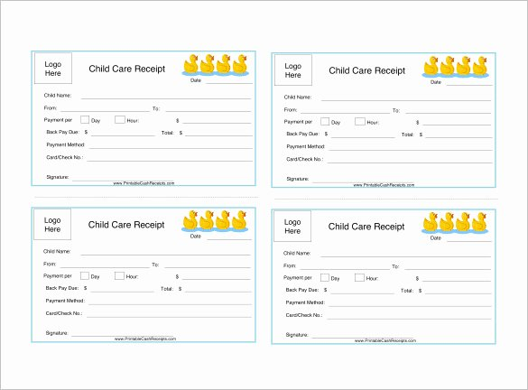 Child Care Receipt Template New 24 Daycare Receipt Templates Pdf Doc
