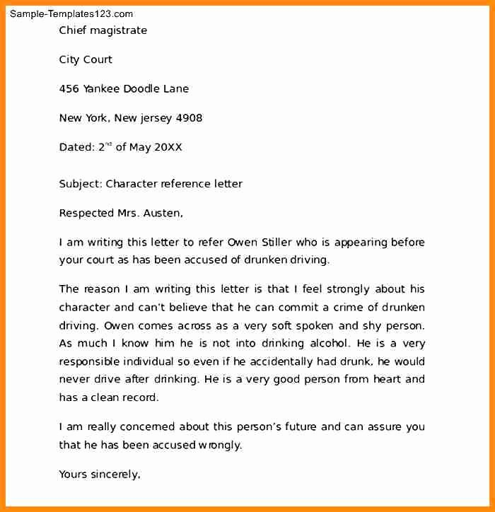 15 what is character reference letter