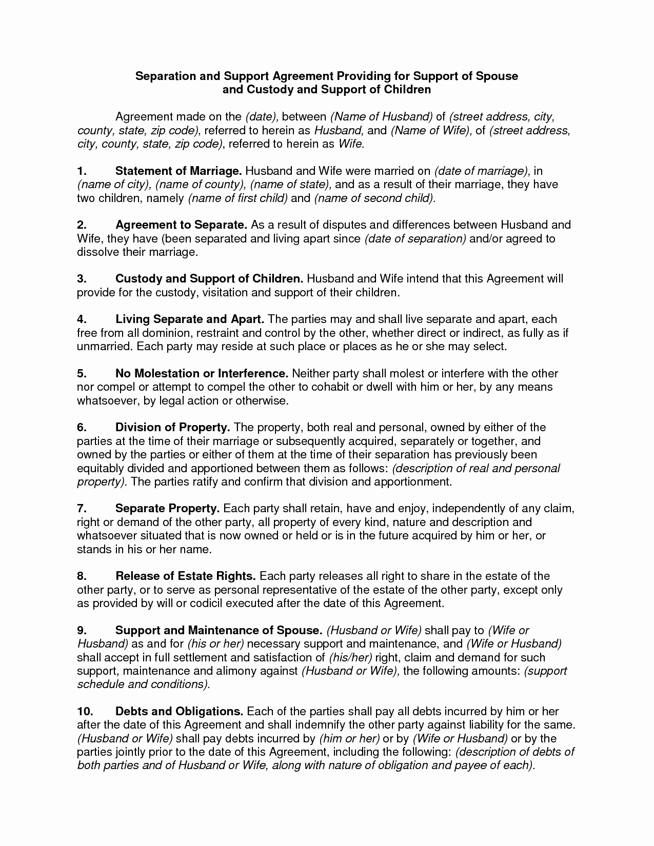 Child Custody Letter Template Inspirational Parenting Agreement Template
