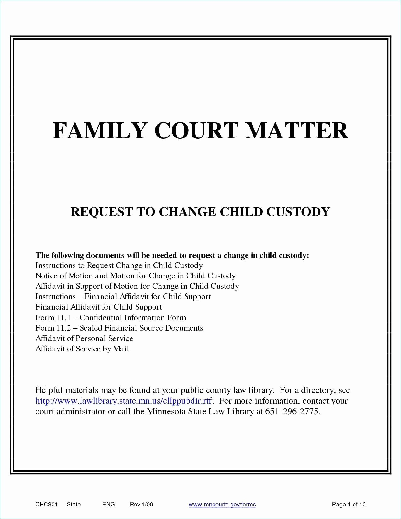 Child Custody Letter Template Lovely Sample Declaration Letter for Child Custody In California