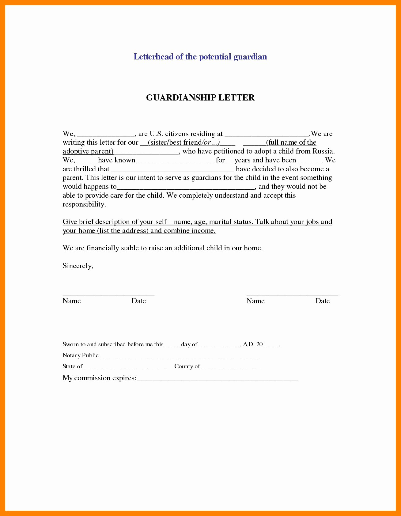 Child Custody Letter Template Unique Legal Guardianship Letter Template Samples