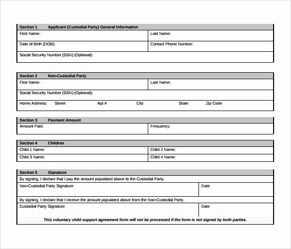Child Support Agreement Template Awesome 10 Sample Child Support Agreement Templates – Pdf