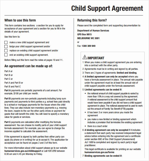 Child Support Agreement Template Unique Child Support Agreement Template Studyclix Web Fc2