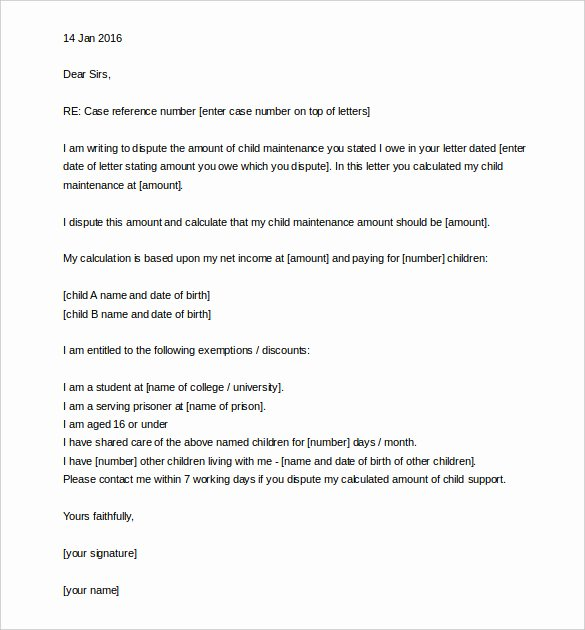 Child Support Letter Template Inspirational 17 Appeal Letter Templates Free Sample Example format