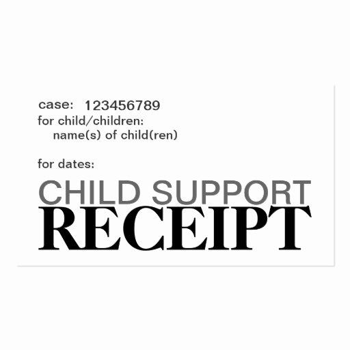 Child Support Receipt Template Fresh Child Support Receipt Cards Double Sided Standard Business