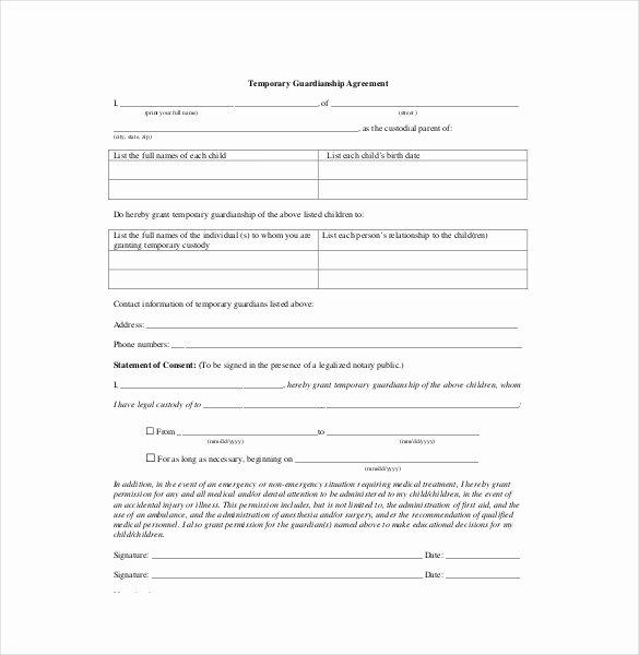 Child Visitation Agreement Template Lovely 10 Custody Agreement Templates – Free Sample Example