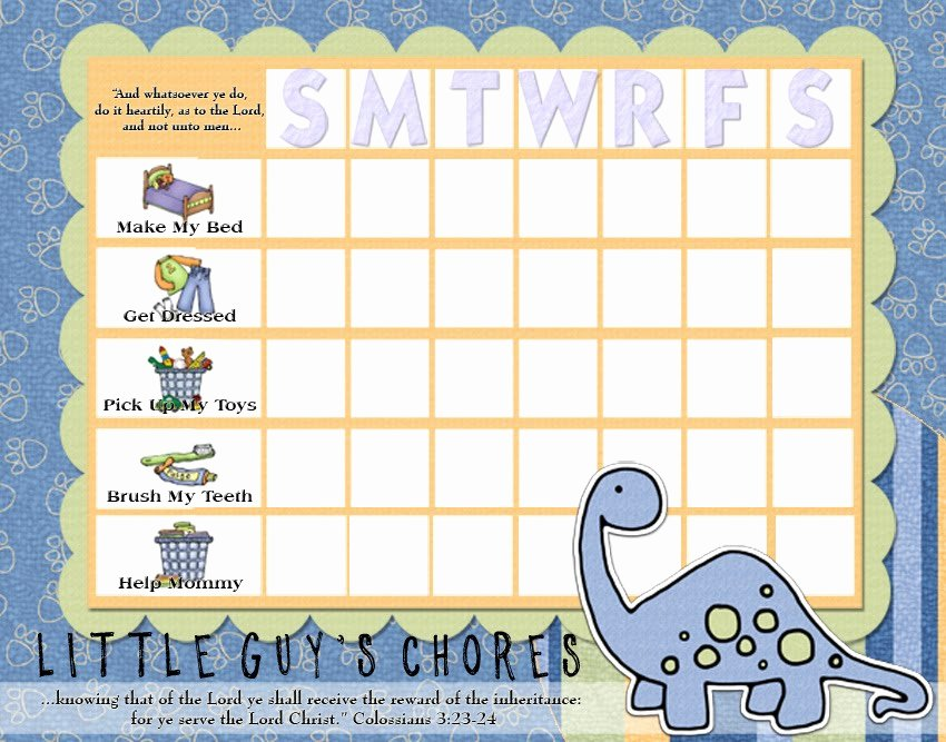 Children Chore Chart Template Awesome Rantin & Ravin Kids Chore Charts