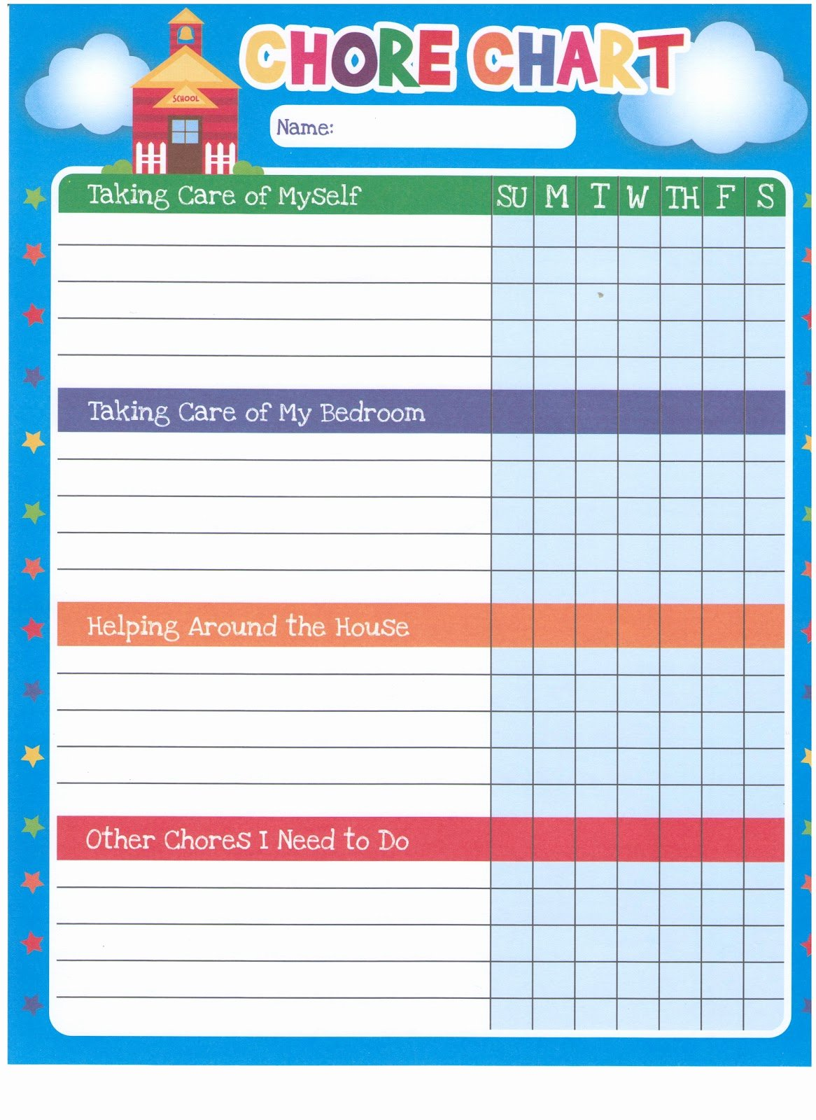 Children Chore Chart Template Best Of Mission Minded Mothering Our Chore Mission Chart System
