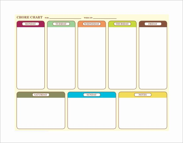 Children Chore Chart Template Inspirational 10 Family Chore Chart Templates Pdf Doc Excel