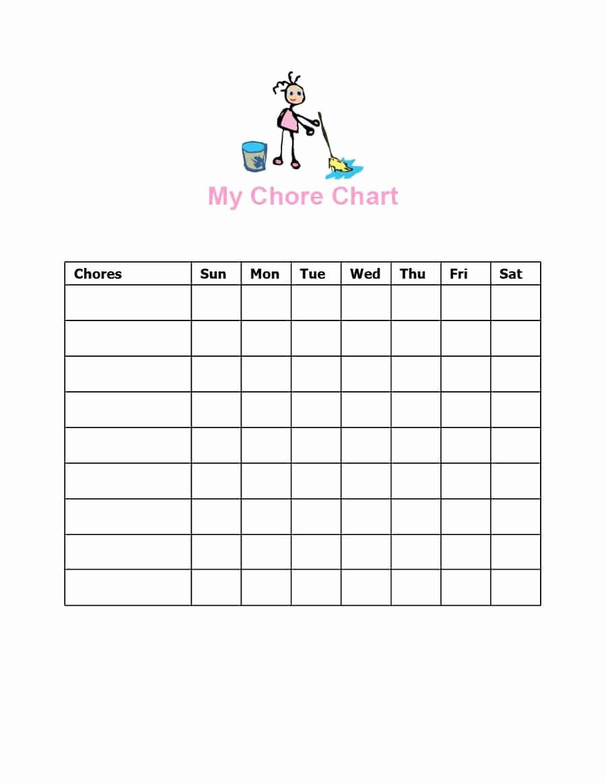 Children Chore Chart Template Lovely 43 Free Chore Chart Templates for Kids Template Lab