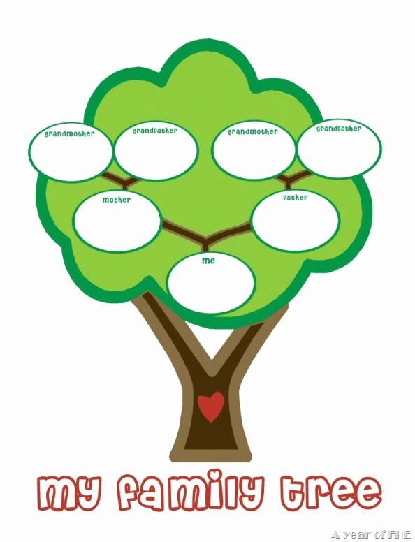 Children Family Tree Template Awesome Preschool Family Tree Template